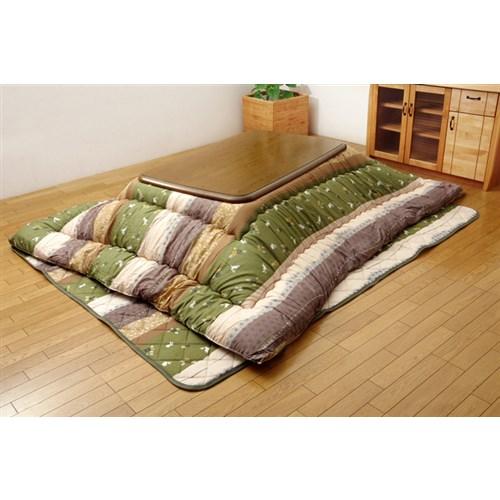 イケヒコ・コーポレーション(IKEHIKO)  和柄 こたつ布団セット 長方形大 『こよみ』 グリーン 約205×285cm
