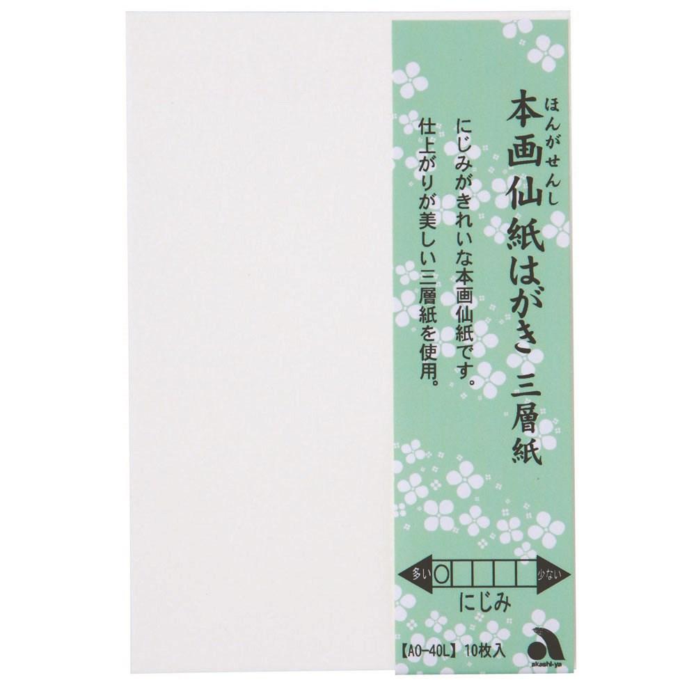 本画仙紙はがき三層紙 10枚入り AO−40L