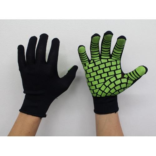 Qフィッツカラー手袋 #782 黒/ライトG L