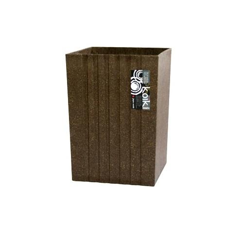 Koiki modern(コイキ モダン) 角型小 4.5L BR(ブラウン) ゴミ箱