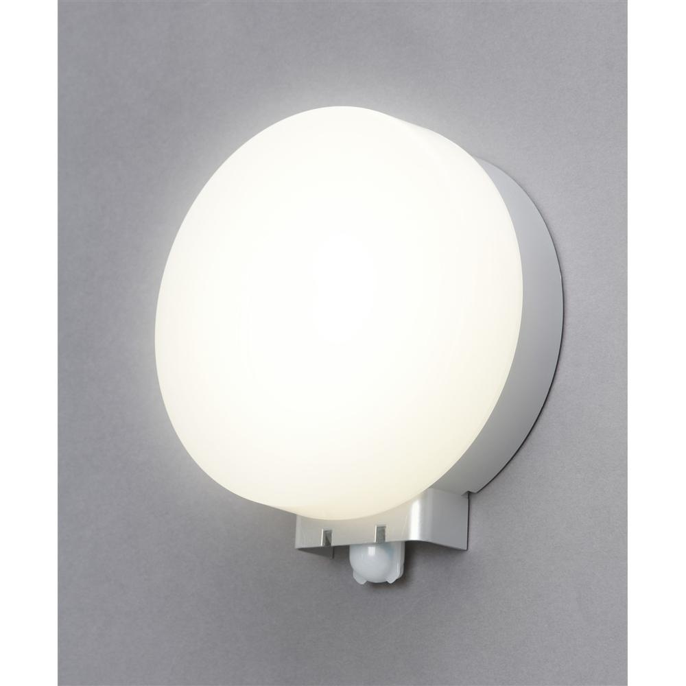 アイリス LEDポーチ灯センサー付円型昼白色520lm IRBR5N−CIPLS−MSBS