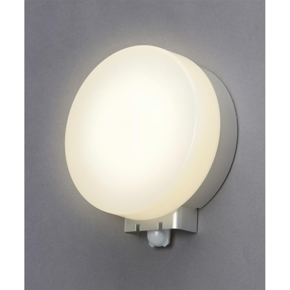 アイリス LEDポーチ灯センサー付円型電球色500lm IRBR5L−CIPLS−MSBS
