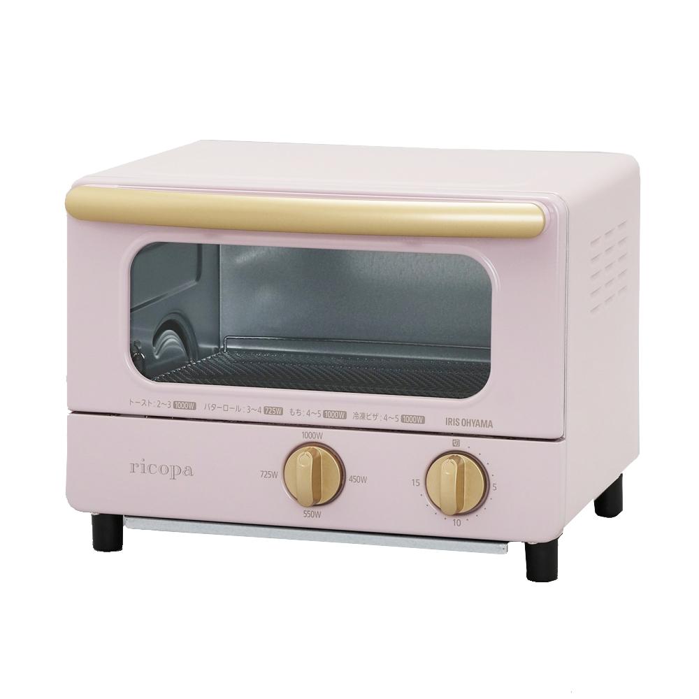 アイリスオーヤマ(IRIS OHYAMA) ricopa オーブントースター EOT-R1001-PA