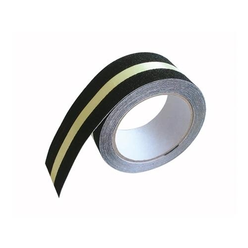 すべり止めテープ ザラザラ 50MM×5M 蓄光ライン