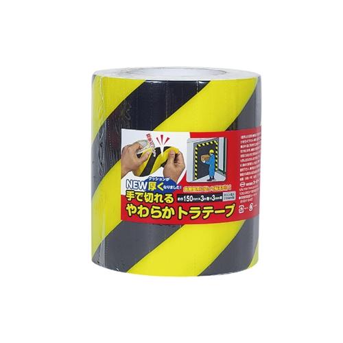 NEW手で切れるやわらかトラテープ 150MM×3M トラ