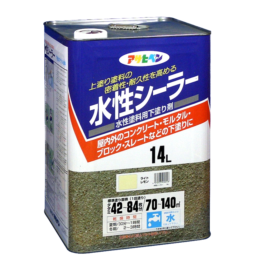 アサヒペン(Asahipen) 水性シーラー 14Lライトレモン