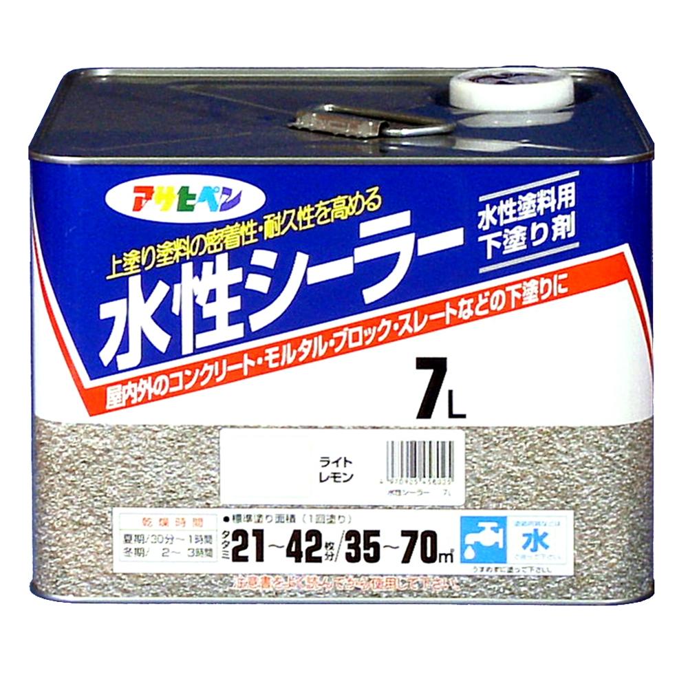 アサヒペン(Asahipen) 水性シーラー 7Lライトレモン