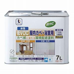 水性屋内カベ・浴室用 白 7L