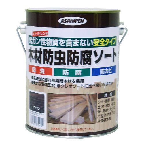 アサヒペン(Asahipen) 木材防虫防腐ソート ブラウン 1L