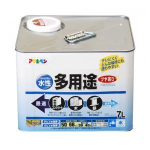 アサヒペン(Asahipen) 水性多用途 ツヤあり 白 7L