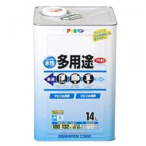 アサヒペン(Asahipen) 水性多用途 ツヤあり 白 14L