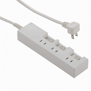 節電タップ 3個口 1m 個別スイッチ HS−T1387W