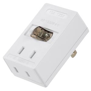 LEDスイッチタップ 2個口 HS−TMP2B2−W