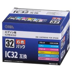 エプソン IC6CL32互換 インクカートリッジ 6色パック INK−E32−6N