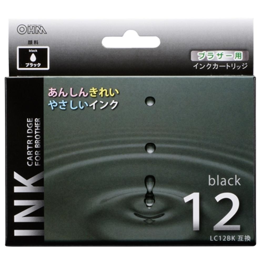 汎用インク ブラザーLC12BK互換 黒