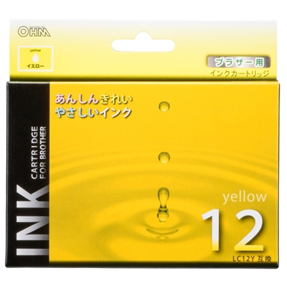 汎用インク ブラザーLC12Y互換 Y