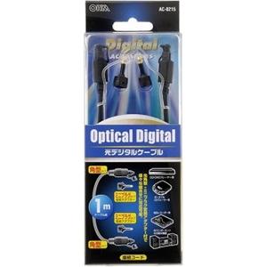 光デジタルケーブル 角型 アダプター付 1m AC−0215