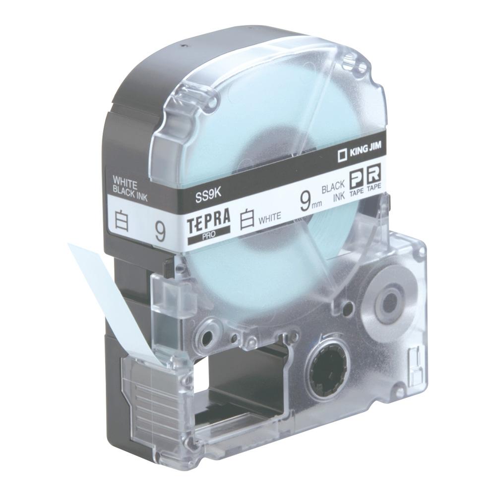 テプラPROテープ SS9K(テープ幅 9mm・白テープ/黒文字)