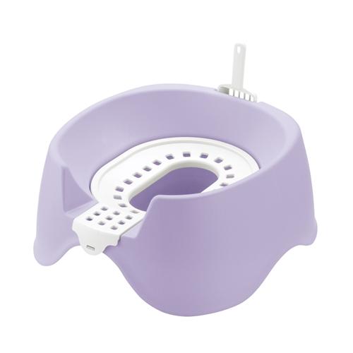 節約簡単ネコトイレ パープル