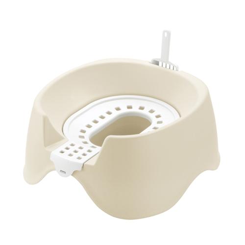 節約簡単ネコトイレ ベージュ