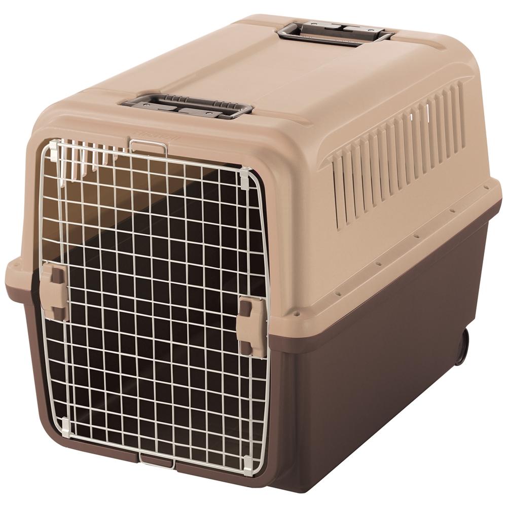 キャンピングキャリーXL ダークブラウン ペットキャリー ペットカート ペットキャリーバッグ 猫 折りたたみ 中型犬 飛行機