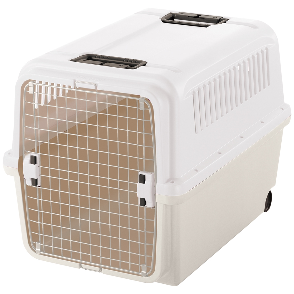 キャンピングキャリーXL アイボリー ペットキャリー ペットカート ペットキャリーバッグ 猫 折りたたみ 中型犬 飛行機