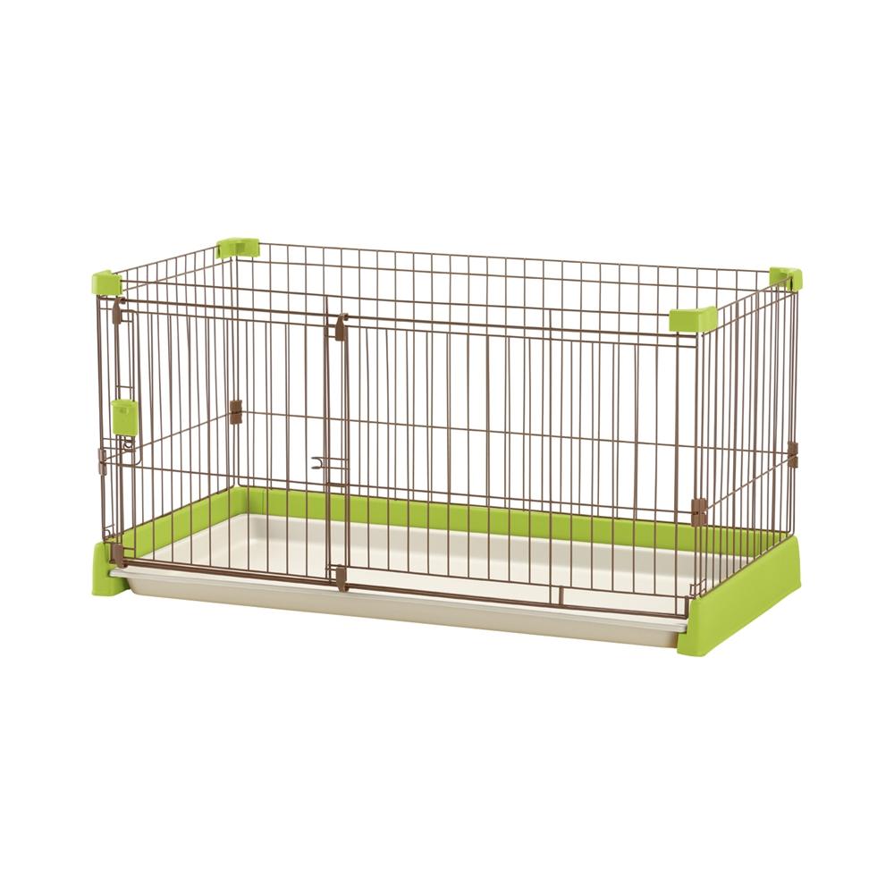 ペット用 お掃除簡単サークル 120−60 グリーン