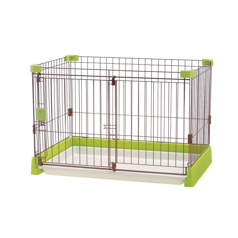 ペット用 お掃除簡単サークル 90−60 グリーン