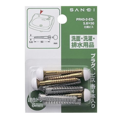 SANEI 化粧ビスPR43-2-E2-5.8X50