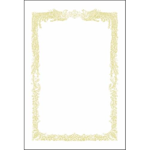 ミニOA賞状用紙 白 No10−521 はがき横