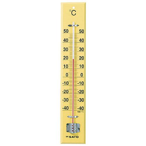 SATO大型木製寒暖計