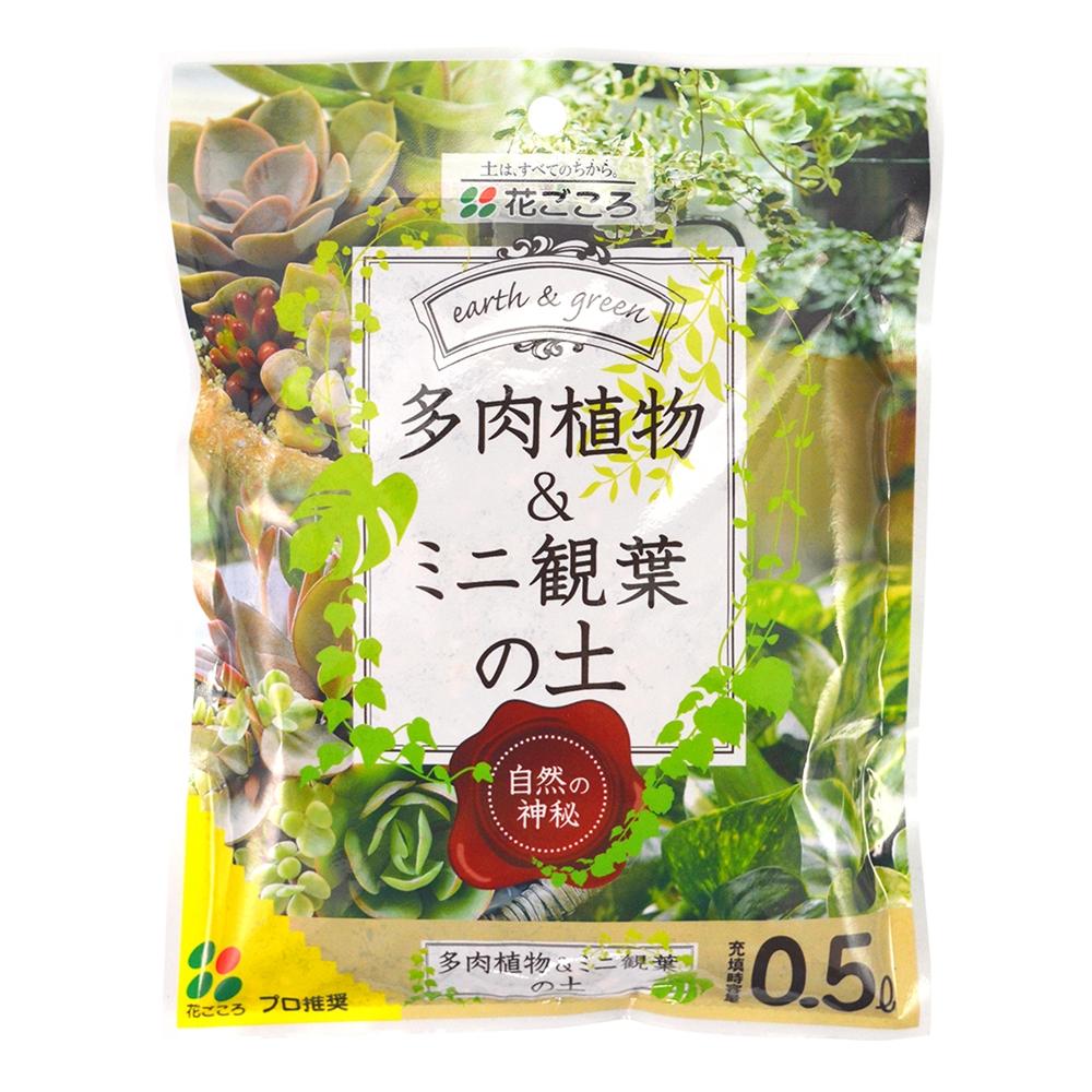 花ごころ 多肉植物&ミニ観葉の土 0.5L(サボテンの土)