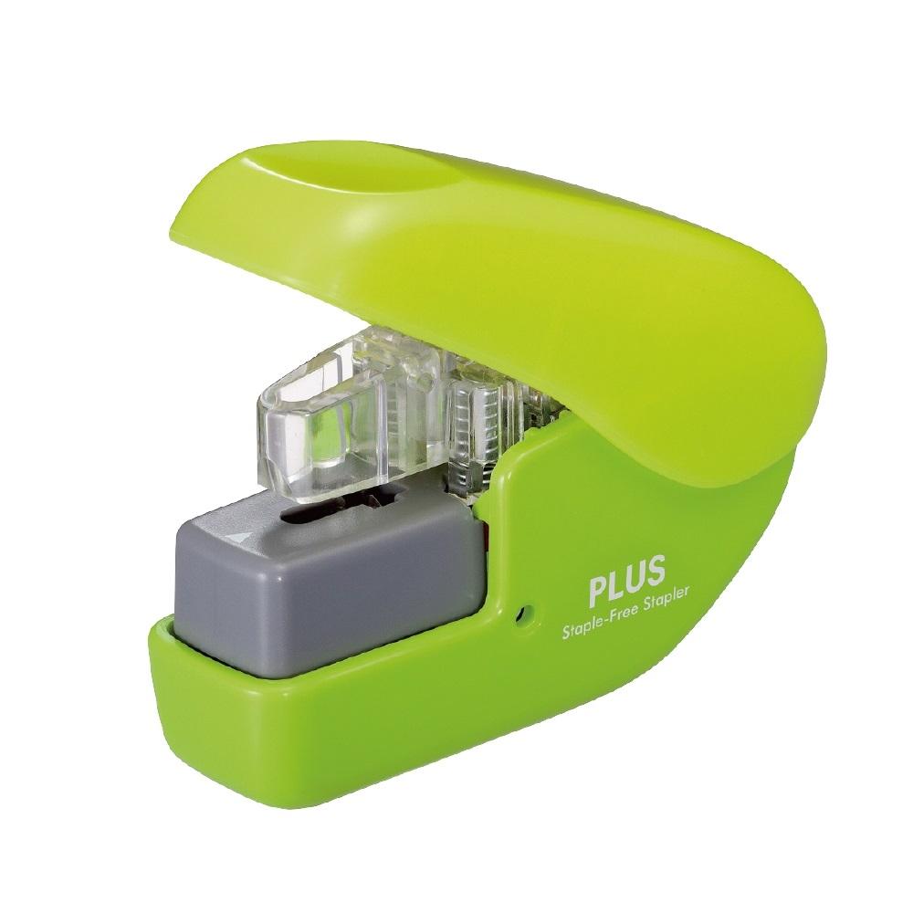PLUS(プラス)  針なしホッチキス ペーパークリンチミニ グリーン
