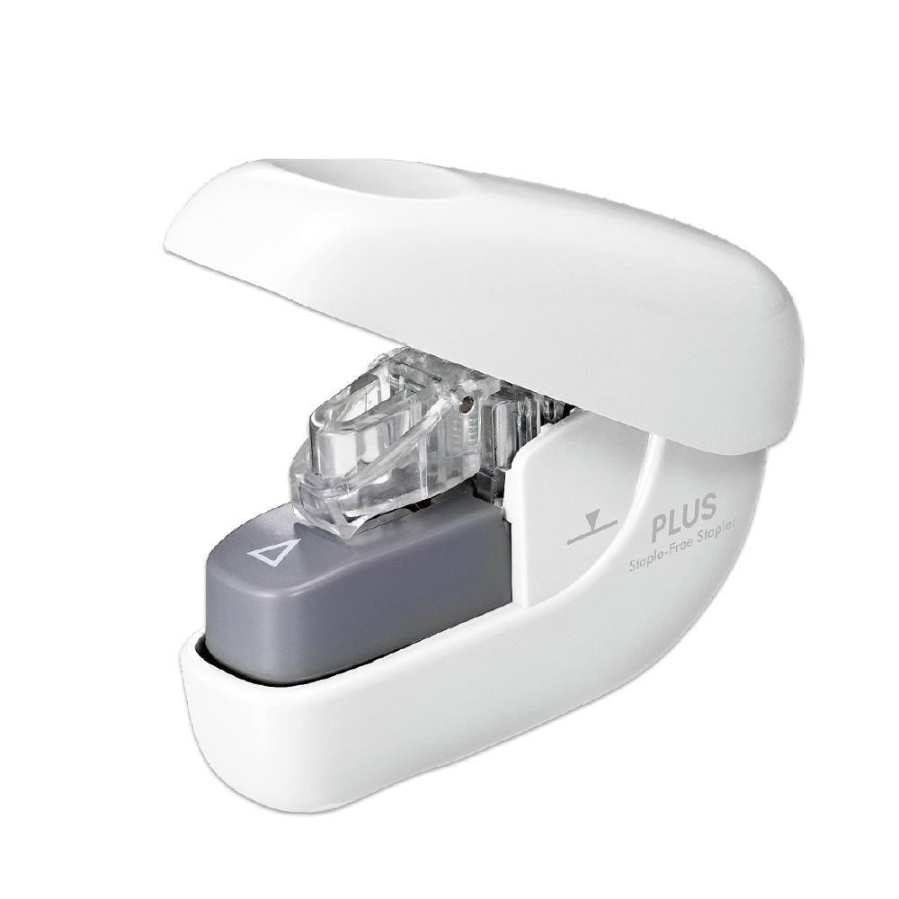 PLUS(プラス)  針なしホッチキス ペーパークリンチ ホワイト 220570