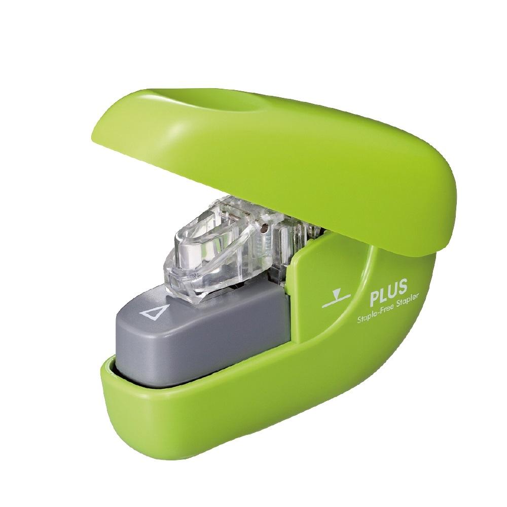 PLUS(プラス)  針なしホッチキス ペーパークリンチ グリーン 322548