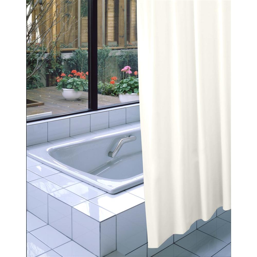 明和グラビア 防炎バスカーテン NVS-400 アイボリー 130cm巾×178cm丈