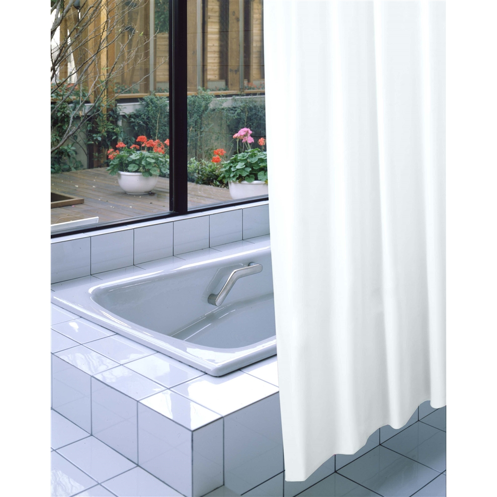 明和グラビア 防炎バスカーテン NVS-400 ライトブルー 130cm巾×178cm丈