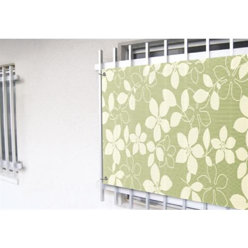 明和グラビア 小窓用目隠しシート フラワー グリーン OF−60135