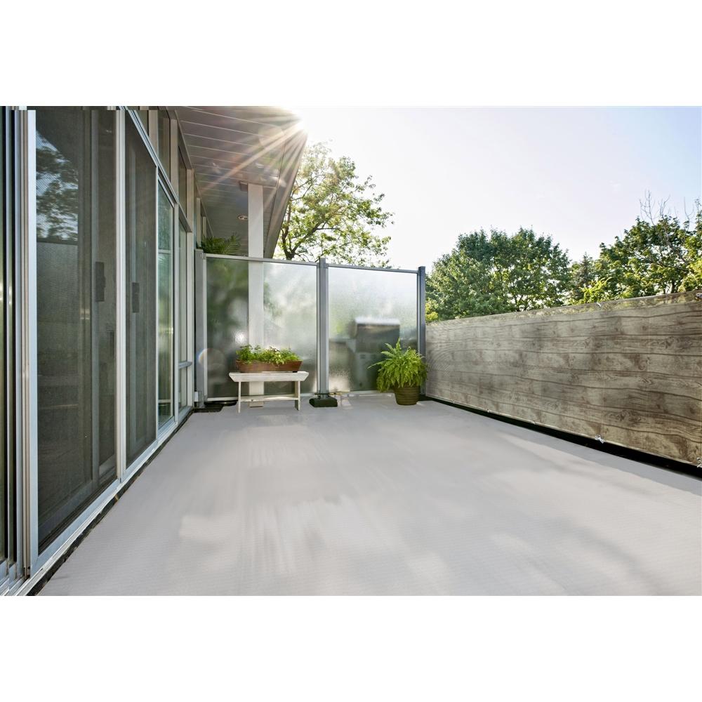 明和グラビア ベランダ装飾シート 木目 ホワイト BD−8027M