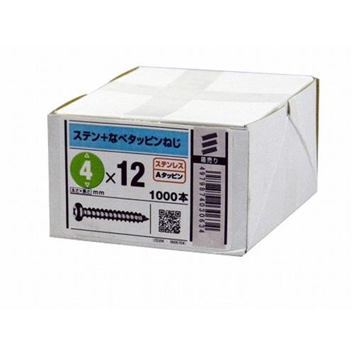 八幡ねじ ステン鍋タッピング 4mm×12mm 1000本入