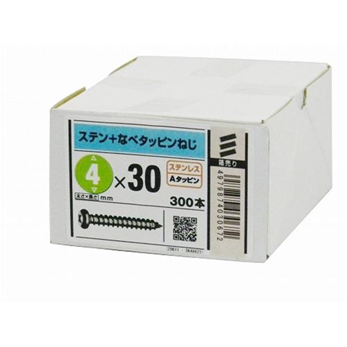八幡ねじ ステン鍋タッピング 4mm×30mm 300本入