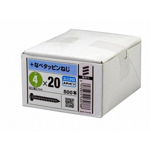 八幡ねじ 鍋タッピング ZU 4×20mm 500本入