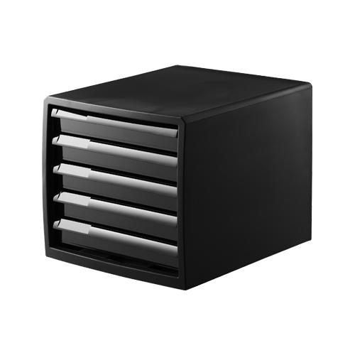 NBK 事務用PC収納 レターケース 浅5段100−Z1