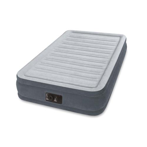 INTEX(インテックス)エアーベッド ツインコンフォート シングルサイズ 電動エアーポンプ付き グレー67765 (日本正規品)