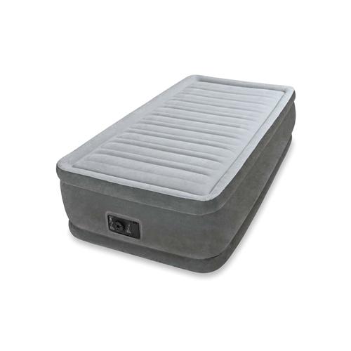 INTEX(インテックス)エアーベッド ツインコンフォート シングルサイズ 電動エアーポンプ付き グレー64411 (日本正規品) 静止耐荷重:約135kg