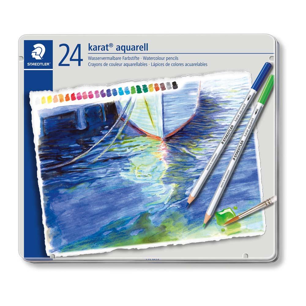 カラトアクェレル 水彩色鉛筆 24色 125M24 24本入 343822