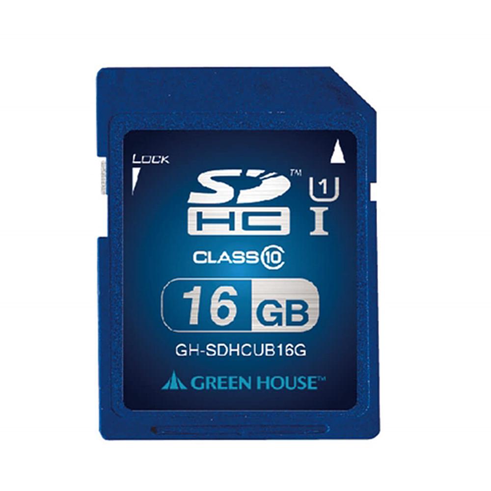 SDHCメモリーカード UHS−I クラス10 16GB GH−SDHCUB16G