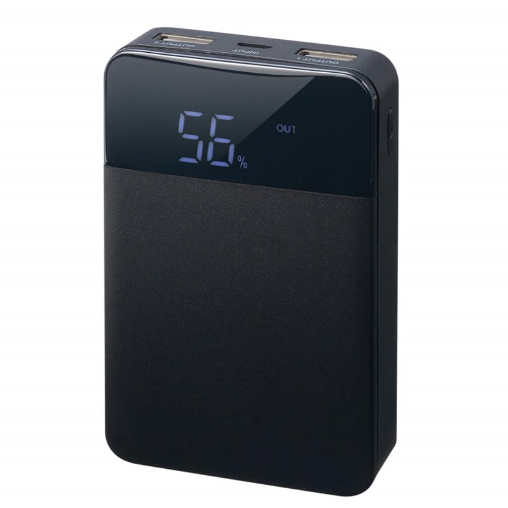 GREN HOUSE モバイル充電器 10000mAh  GH-BTF100-BK