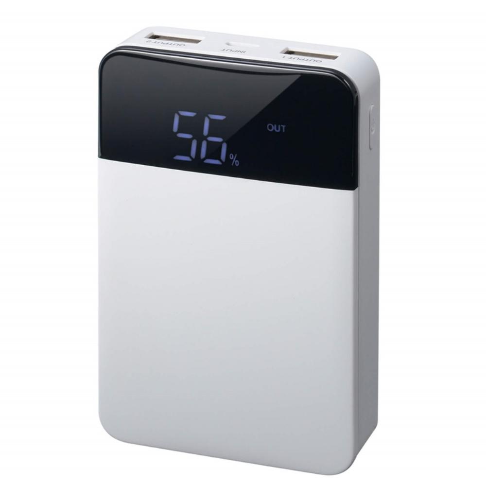GREN HOUSE モバイル充電器 10000mAh  GH-BTF100-WH
