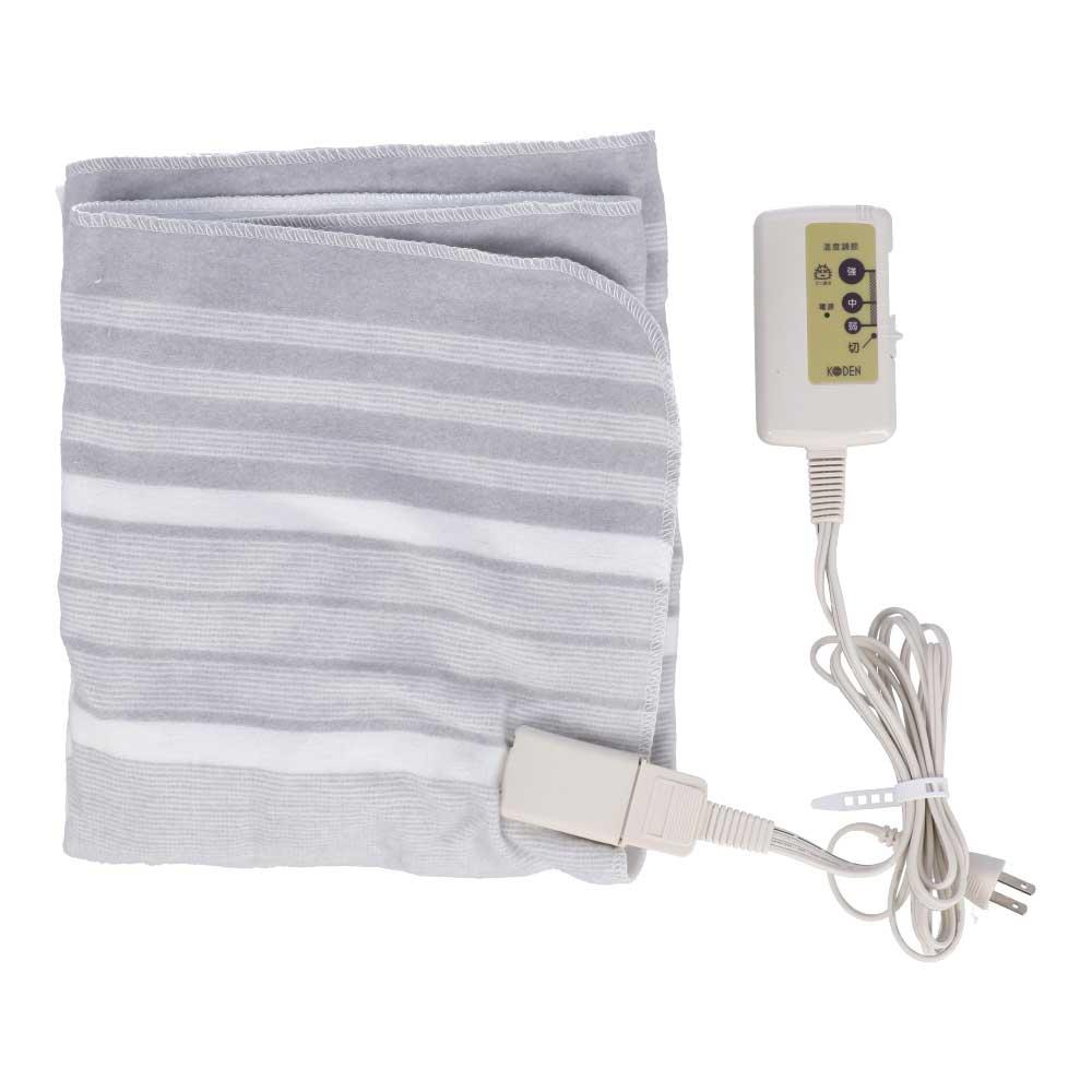 KODEN 電気敷毛布 VWS401−H 1 グレー 幅800×奥行1300×高さ4mm